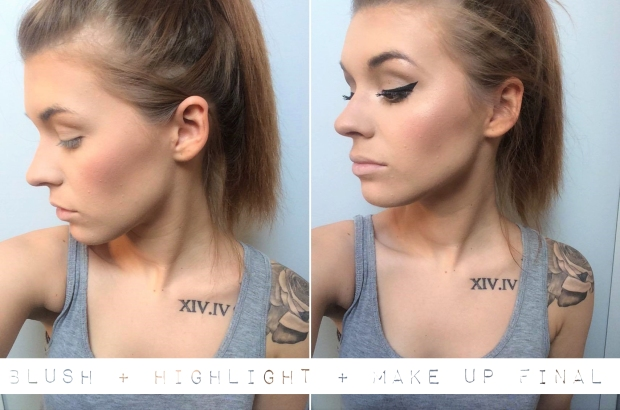 Contouring highlight blush